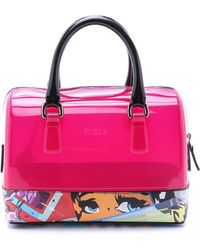 Furla Graffiti Candy Cookie Mini Satchel - Hot Pink pink - Lyst