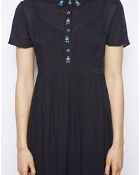 NW3 by Hobbs - Yasmin Midi Dress with Embroidered Detail - Lyst