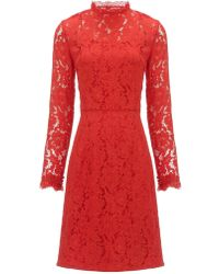 Temperley London Coral Lace Coco Dress - Lyst