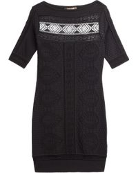 Roberto Cavalli Stretch Knit Dress - Lyst