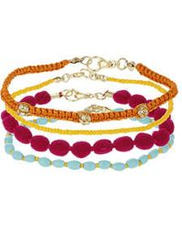 Topshop Bright Anklet Pack - Lyst