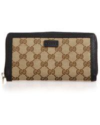 Gucci Gg Classic Zip Around Wallet beige - Lyst
