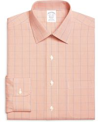 Brooks Brothers Noniron Traditional Fit Houndstooth Overcheck Dress Shirt - Lyst