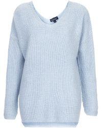 Topshop Clean Rib Sweater  - Lyst
