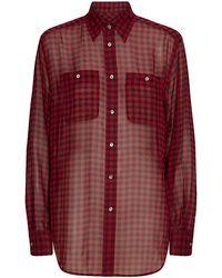 Polo Ralph Lauren Alyssa Silk Plaid Shirt - Lyst