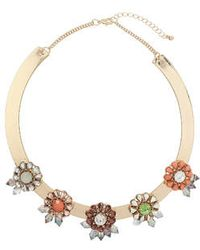 Topshop Beaded Flower Torque - Lyst
