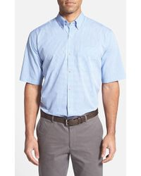 Cutter & Buck 'Fairmount Check' Classic Fit Short Sleeve Sport Shirt - Lyst