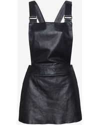 Love Leather - Exclusive Catch Mini Leather Overall Dress - Lyst