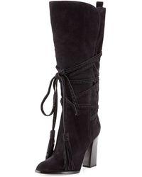 Michael Kors Jessa Wraparound Tassel Boot - Lyst