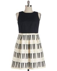 ModCloth Me, Myself, And Ivories Dress black - Lyst
