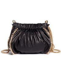Venna - 'love Star' Crystal Spike Leather Crossbody Chain Bag - Lyst