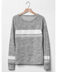 Gap | Sun Wash Active Stripe Crew Sweatshirt | Lyst