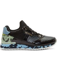 Dolce & Gabbana Black Multi_print Panelled Sneakers - Lyst