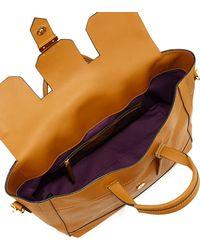 Linea Pelle - Astor Metal Embellished Large Satchel Bag Dijon - Lyst