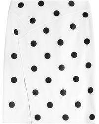 Ralph Lauren Collection Tasha Wool Skirt With Polka Dots - Lyst