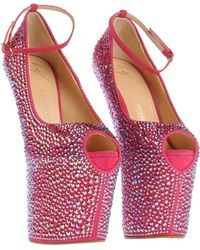 Giuseppe Zanotti Crystal Covered Exaggerated Wedge Platform Pump - Lyst