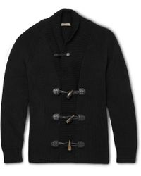 Bottega Veneta Cotton-Blend Shawl-Collar Cardigan - Lyst