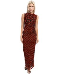 Jean Paul Gaultier Tiger Polka Dot Tulle Sleeveless Long Dress - Lyst