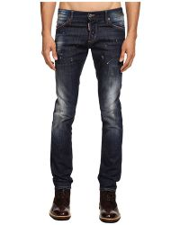 DSquared2 Slim Red Spots Wash Jean - Lyst