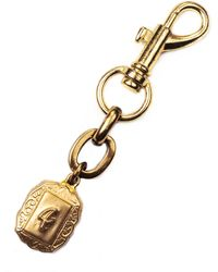 Lulu Frost Victorian Plaza Charm Number Keychain #4 gold - Lyst
