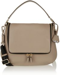 Anya Hindmarch Maxi Zip Textured-leather Shoulder Bag - Lyst