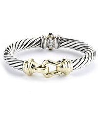 David Yurman Pre-owned Rhodolite Garnet Buckle Bracelet - Lyst