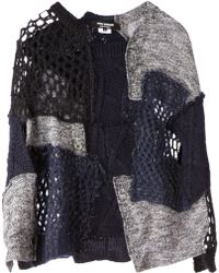 Junya Watanabe Knitted Patchwork Sweater - Lyst