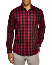 Sovereign Code   Hamstead Check Regular Fit Button Down Shirt   Lyst