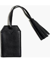 Madewell Tassel Luggage Tag - Black