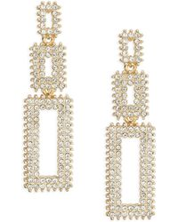 R.j. Graziano - Pave Link Drop Earrings - Lyst