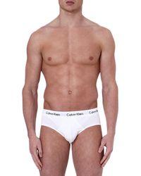 Calvin Klein Stretchcotton Briefs White - Lyst