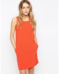 Colorblock Color Block Shift Dress With Multi-Colur Zip - Lyst