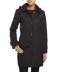 Anne Klein - Hooded Turn Lock Trench Coat - Lyst