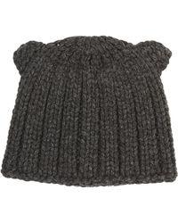 BCBGMAXAZRIA Chunky Ribbed-knit Beanie - Lyst