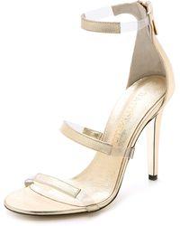 Tamara Mellon Frontline Sandals - Platino - Lyst