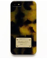 MICHAEL Michael Kors Tortoise Print Resin Iphone 5 Case - Lyst