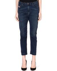 Diesel Boyfriend Midrise Jeans Blue - Lyst