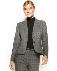 Calvin Klein Two-button Plaid Blazer - Lyst