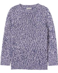 Rebecca Taylor Marled Cotton Pullover - Lyst