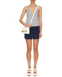 Elizabeth And James Chester Striped Cropped Top - Lyst