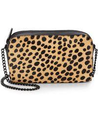 Loeffler Randall - Cheetah-Print Calf Hair Pouchette - Lyst