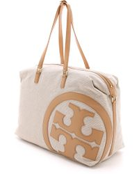 Tory Burch Lonnie Duffel Bag - Natural/Vachetta - Lyst