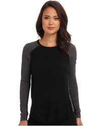 Rebecca Taylor Long Sleeve Stacy Top - Lyst