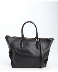 Tod's Black Leather Top Handle Large Convertible Bag - Lyst