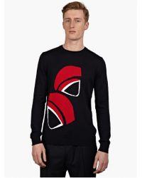 MELINDAGLOSS Men'S Navy Shell Knitted Sweater - Lyst