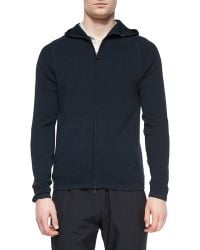 Theory - Melker Zip-up Hooded Sweater - Lyst
