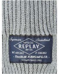Replay - Cotton Beanie Hat - Lyst