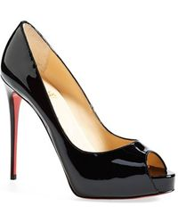 red bottom shoes for men price - Christian louboutin New Very Prive Patent Leather Peep-toe Pumps ...
