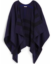 Burberry Charlotte Check-lined Wool  Silk Wrap - Lyst