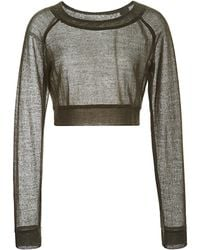 Peter Som - Chunky Knit Cropped Sweater - Lyst